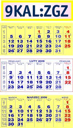 You are browsing images from the article: Kalendarze trójdzielne - klasyczny i standard